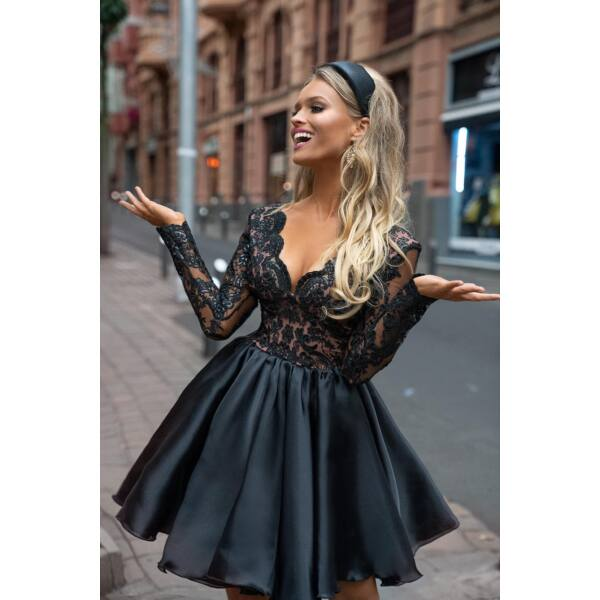 Luna alkalmi ruha, bézs fekete